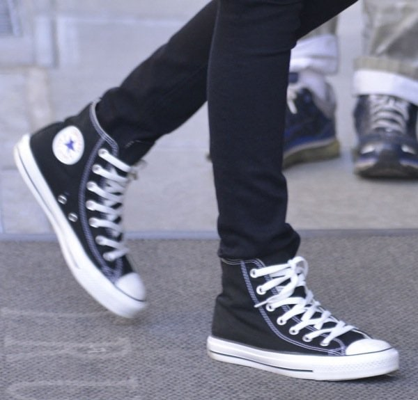 Carly Chaikin loves her black and white Chuck Taylors