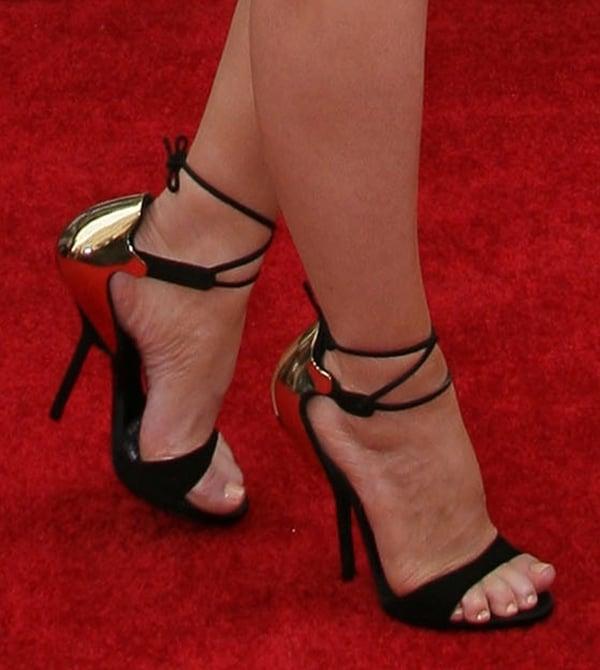 Carrie Keagan in Giuseppe Zanotti sandals