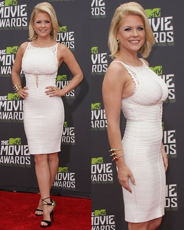 Carrie Keagan at the 2013 MTV Movie Awards held at Sony Pictures Studios on April 14, 2013