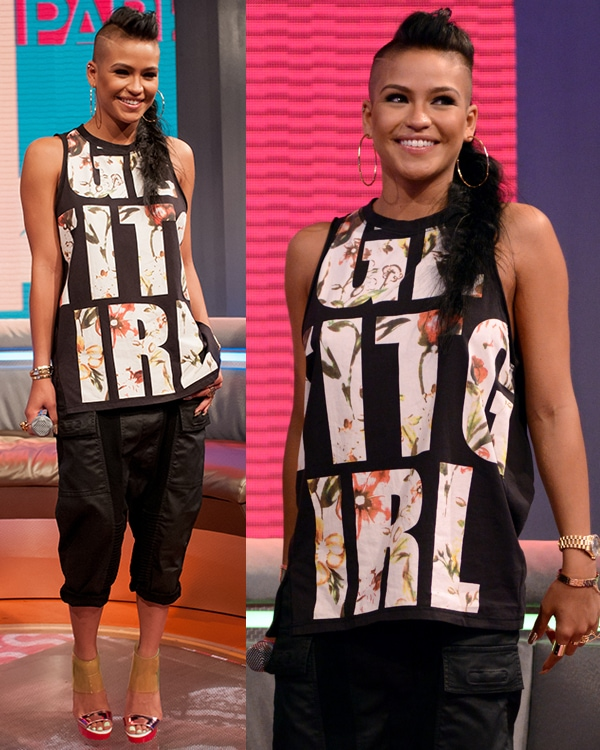 Cassie at BET's 106 and Park on April 8, 2013