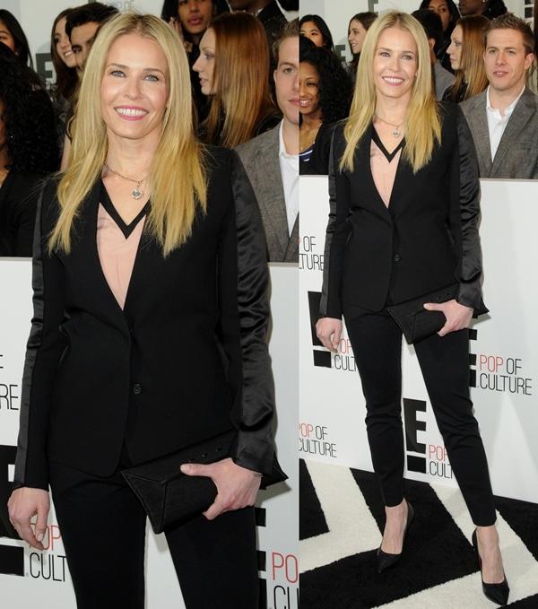 Chelsea Handler with sleek hair at the E! Upfront Presentation