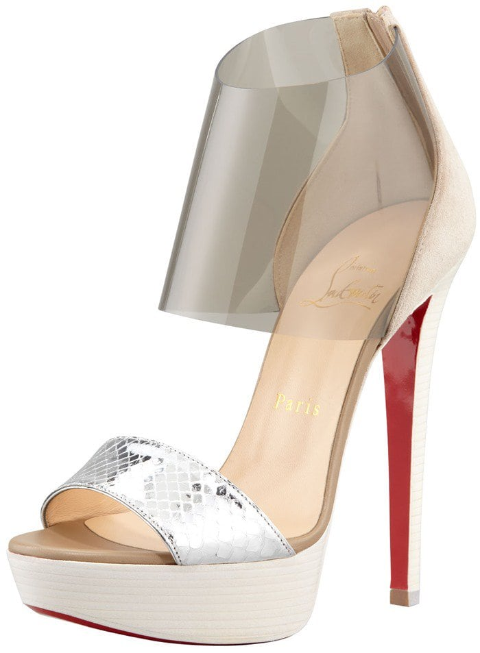 Christian Louboutin Dufoura Open-Toe Red Sole Bootie