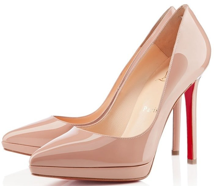 Christian Louboutin Pink Pigalle Plato Patent