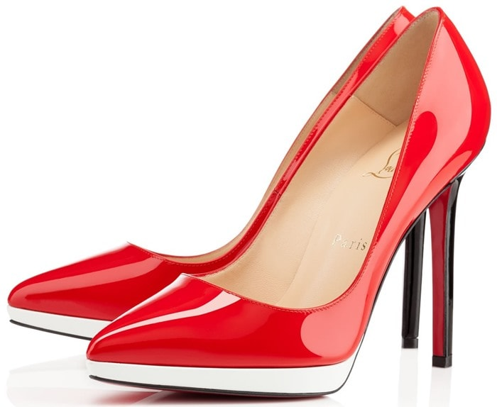 Christian Louboutin Red Pigalle Plato Patent