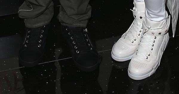 Ciara and Future wearing matching Givenchy shoes