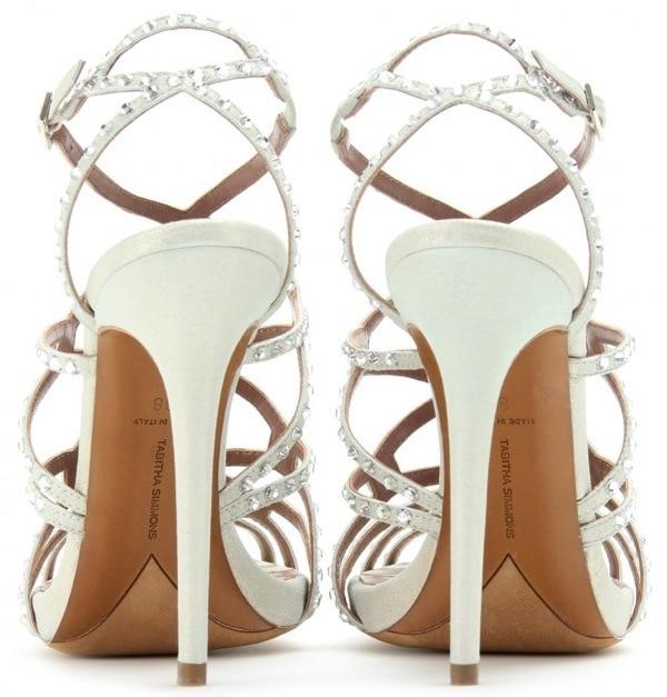 "Tabitha Simmons ""Dee"" Stilettos with Crystal Embellishments"