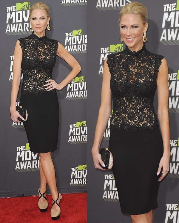 Desi Lydic at the 2013 MTV Movie Awards held at Sony Pictures Studios on April 14, 2013