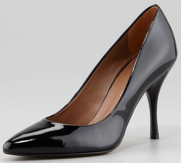 Donald J. Pliner Brave Patent Leather Pointed-Toe Pump