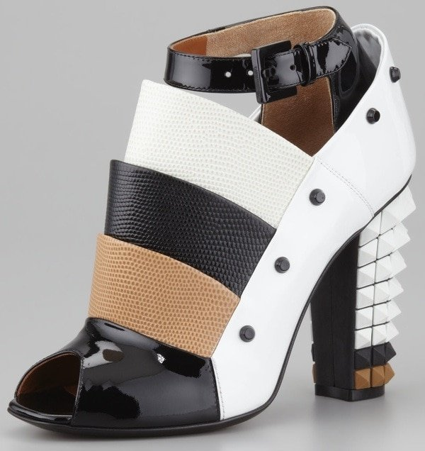 Fendi Layered Pyramid Stud-Heel Pumps