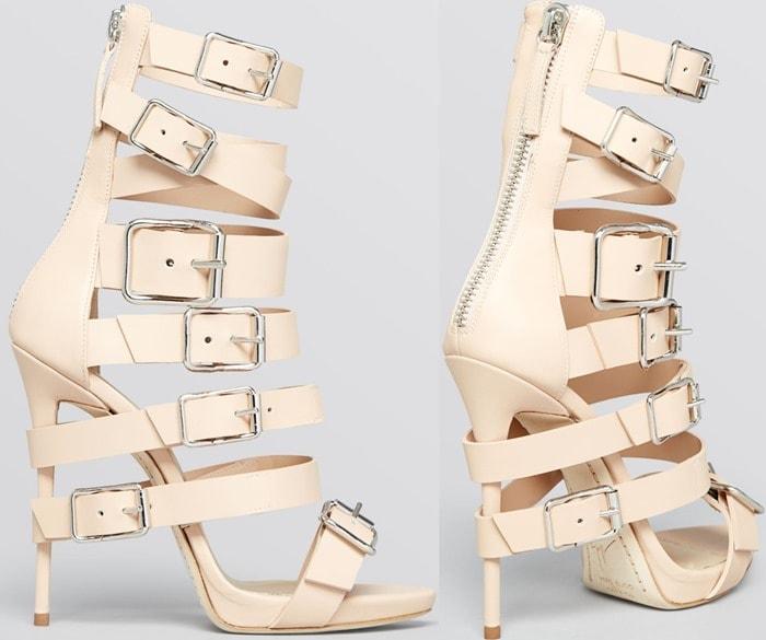 Giuseppe Zanotti Beige Open Toe Platform Gladiator Sandals Coline High Heel