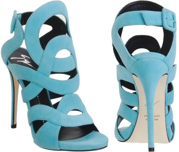 Giuseppe Zanotti Blue Gladiator Sandal