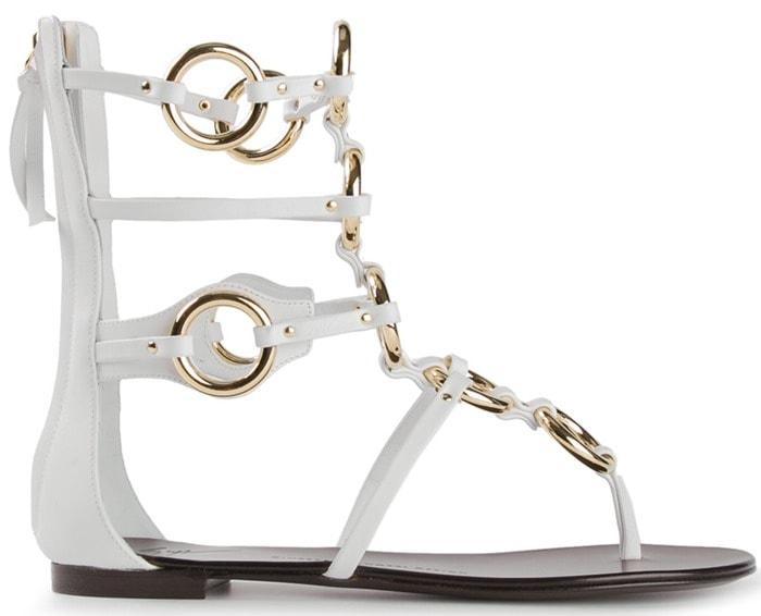 Giuseppe Zanotti White Strappy Gladiator Sandals