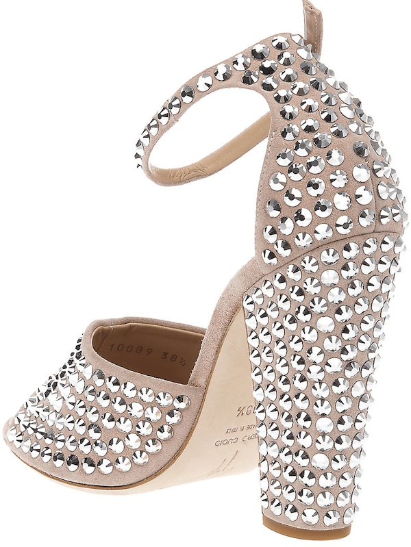 Giuseppe Zanotti Stud-Detail Sandals in Beige