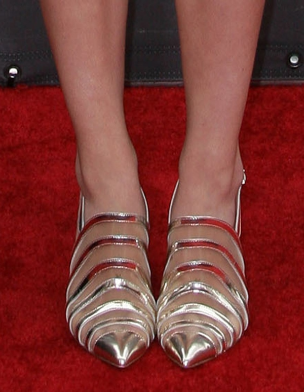 Greer Grammer's Armani high-heeled sandals
