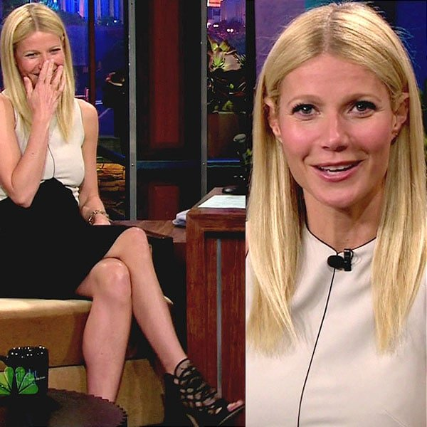 Gwyneth Paltrow on NBC's The Tonight Show with Jay Leno at their studios in Burbank, California on April 25, 2013