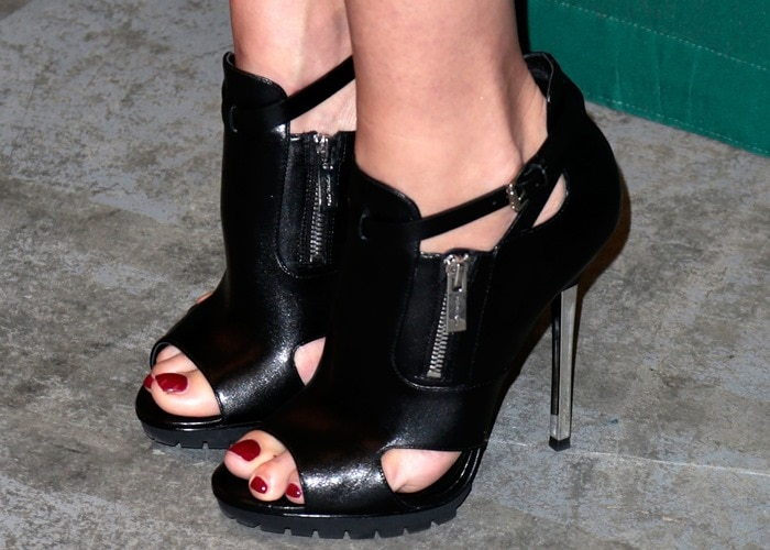 A closer look at Gwyneth's booties