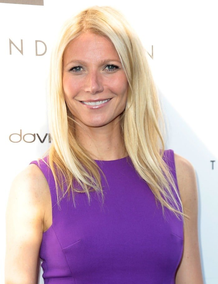 Gwyneth Paltrow at the opening of the Tracy Anderson Flagship Studio in Brentwood, California, April 4, 2013