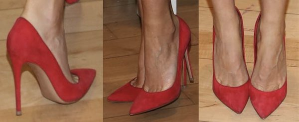 Gwyneth Paltrow in Gianvito Rossi pumps for her book signing of 'It's All Good' in New York, April 9, 2013