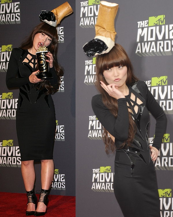 Hana Mae Lee at the 2013 MTV Movie Awards held at Sony Pictures Studios on April 14, 2013