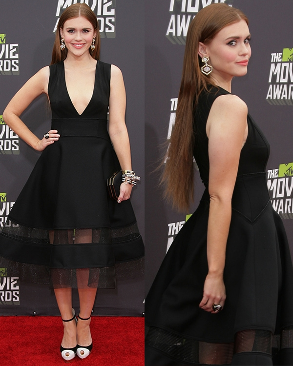 Holland Roden at the 2013 MTV Movie Awards held at Sony Pictures Studios on April 14, 2013