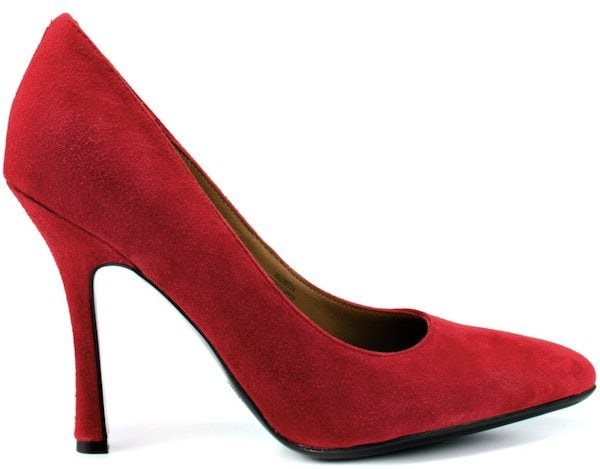 Isaac Misrahi Red Suede Pumps