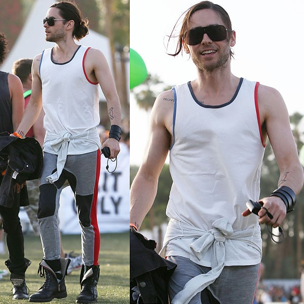 Jared Leto is making biker-style sweatpants and combat boots look so achingly hip