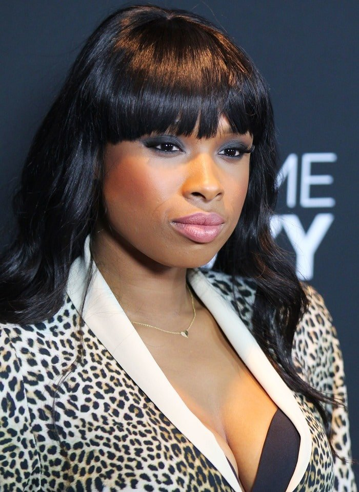 Jennifer Hudson at the world premiere of the Lifetime Original movie event, 'Call Me Crazy: A Five Film', at Pacific Design Center's SilverScreen Theater in Los Angeles on April 16, 2013