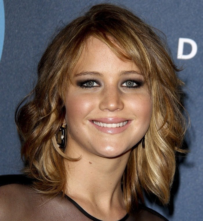 Actress Jennifer Lawrence arrives at the 24th Annual GLAAD Media Awards at JW Marriott Los Angeles at L.A. LIVE on April 20, 2013 in Los Angeles, California