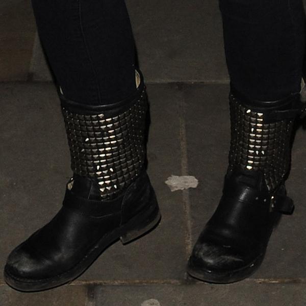 Jennifer Ellison in Ash Titan studded rain boots