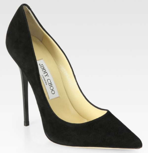 Jimmy Choo Anouk Black Suede