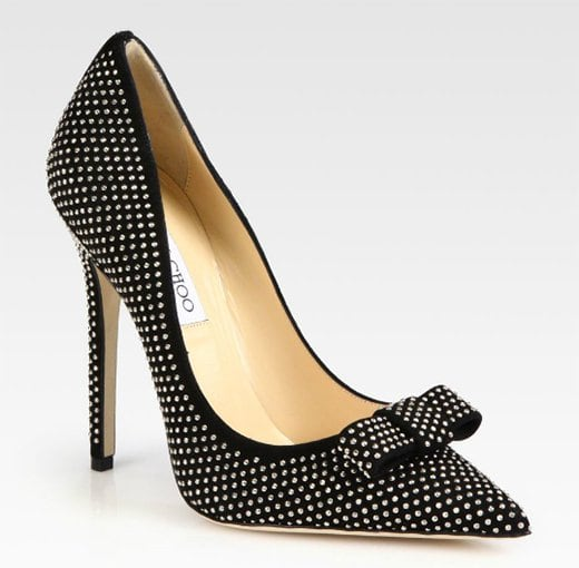 "Jimmy Choo ""Maya"" Studded Bow Pumps"
