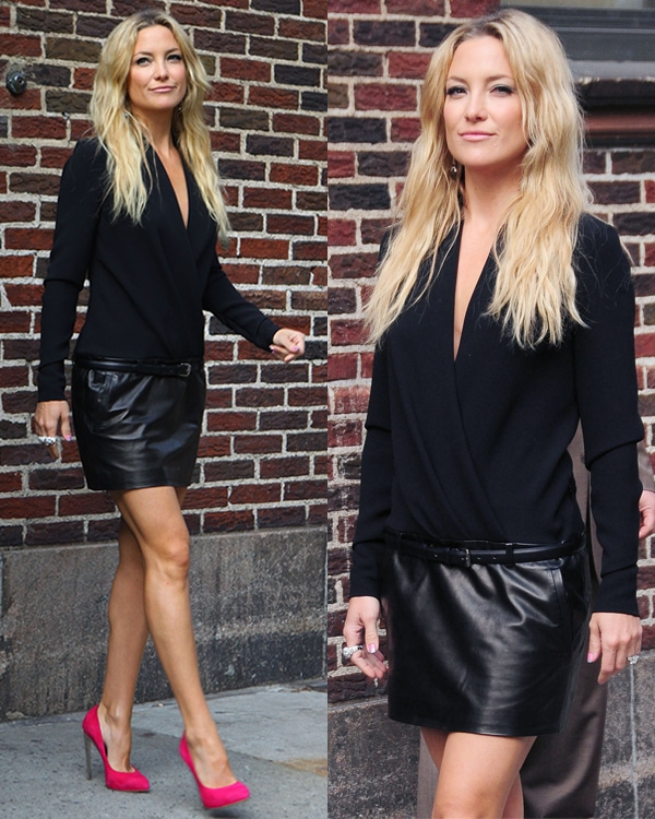 Kate Hudson leaving the Ed Sullivan Theater after an appearance on the Late Show with David Letterman
