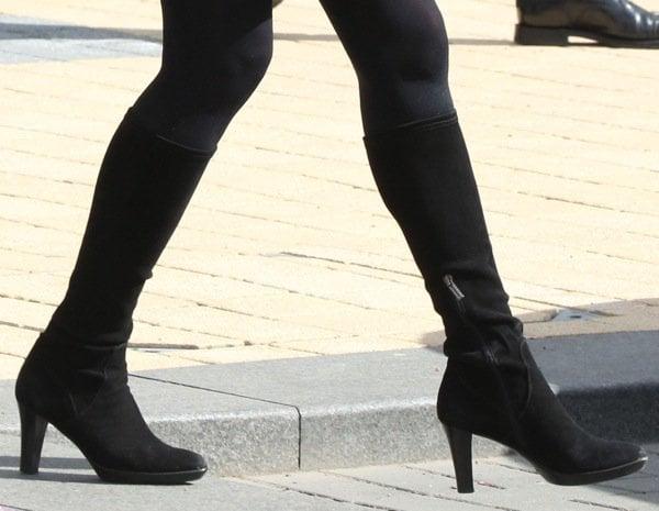Kate Middleton wearing knee high boots