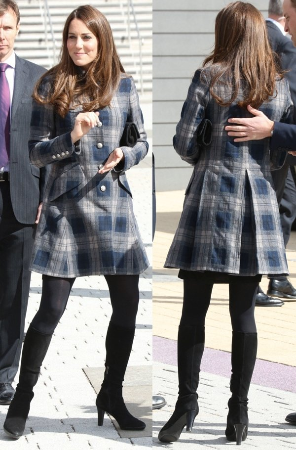 Kate Middleton Classy And Conservative In Knee High Black