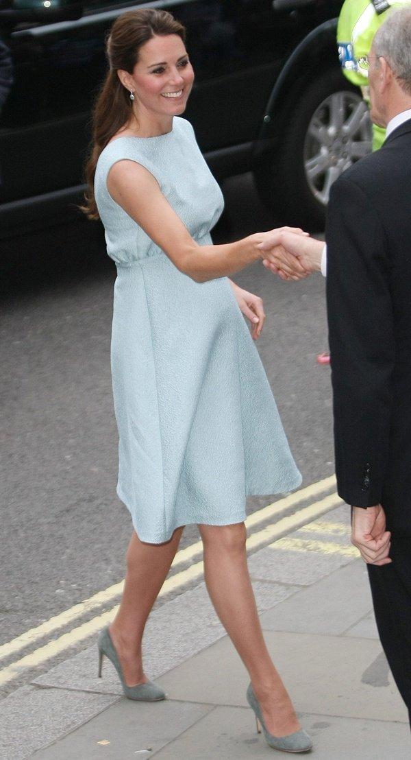 Kate Middleton at an evening reception for The Art Room charity at the National Portrait Gallery in the UK on April 24, 2013