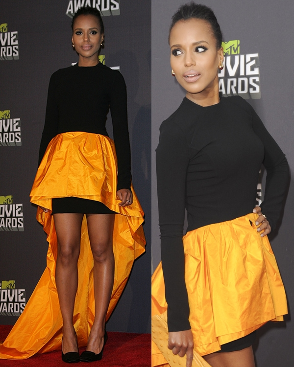 Kerry Washington at the 2013 MTV Movie Awards held at Sony Pictures Studios on April 14, 2013