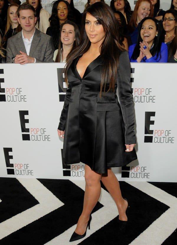 Kim Kardashian with perfect hair and makeup