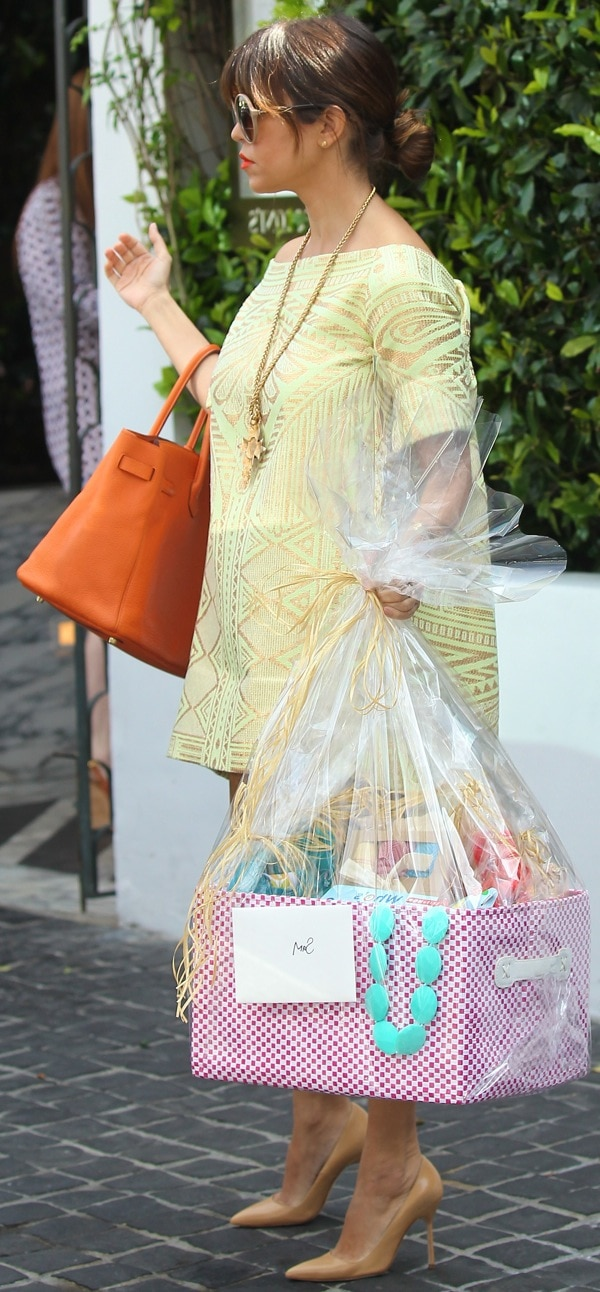 Kourtney Kardashian seen heading to a lunch party in West Hollywood on April 6, 2013