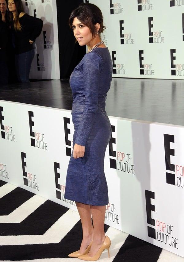 Kourtney Kardashian flaunts her legs at the E! Upfront Presentation