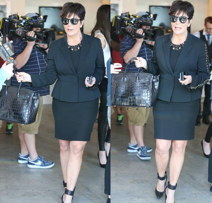 Kris Jenner seen out shopping at an art gallery in West Hollywood on April 11, 2013