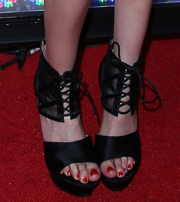 Krysten Ritter wearing Rachel Zoe Delfinna sandals