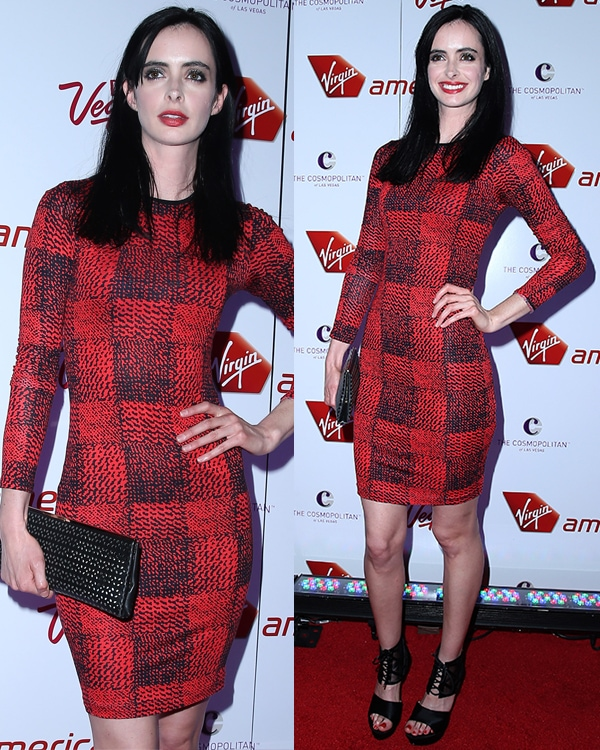 Krysten Ritter joining in the celebration of Virgin America's new flights at The Cosmopolitan of Las Vegas on April 22, 2013
