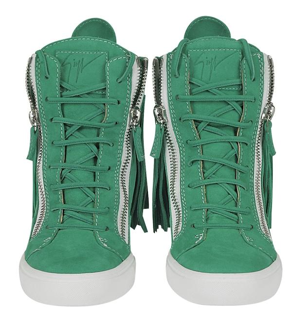 Lorenz Fringe Wedge Sneaker Green4