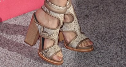 490e39f18cc Louise Roe Rocks Taupe Python Monika Chiang  Faiza  Cuff Sandals