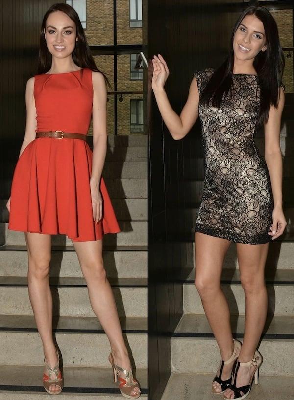 Models wearing Amy Huberman shoes
