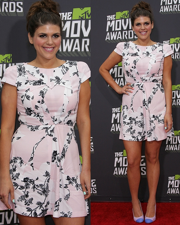 Molly Tarlov at the 2013 MTV Movie Awards held at Sony Pictures Studios on April 14, 2013