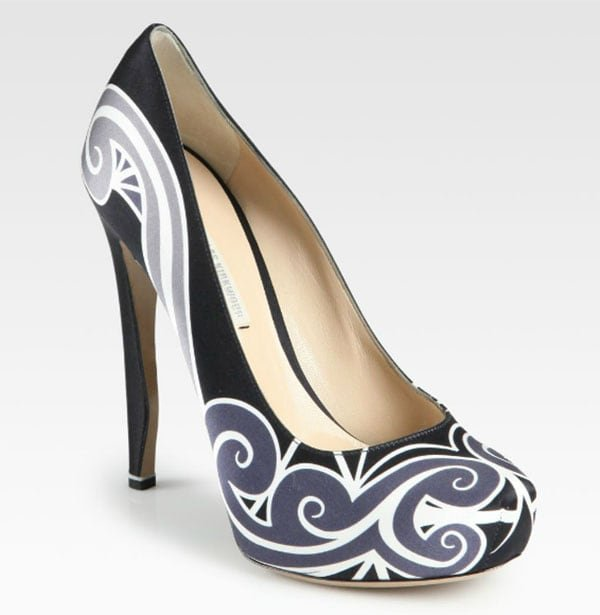 Nicholas Kirkwood Printed Satin Pumps outlet discounts cheap sale 2014 new free shipping visit outlet online J9caZIyXW