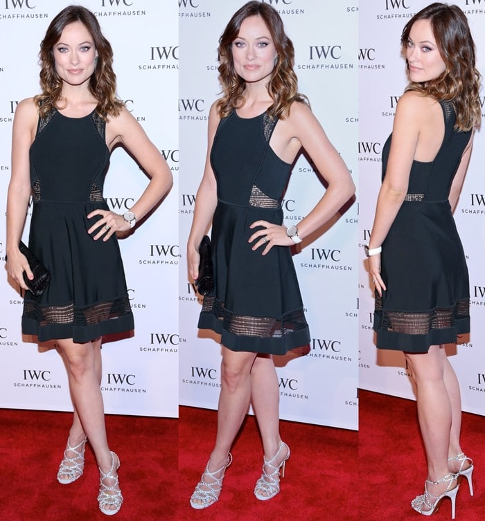 Olivia Wilde In Crystal Embellished Tabitha Simmons Dee Stilettos