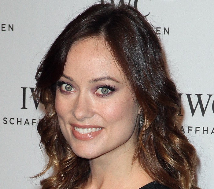Olivia Wilde's House of Lavande vintage earrings at the IWC and Tribeca Film Festival 'For the Love of Cinema' celebration