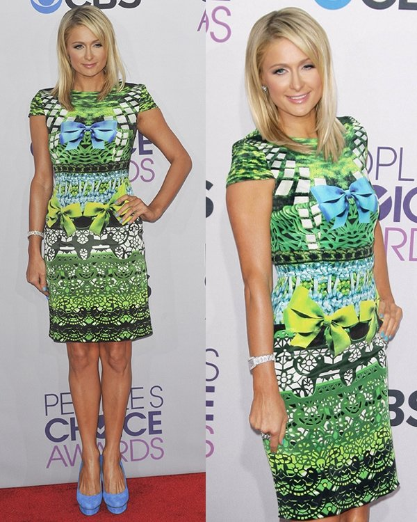 Paris Hilton at 39th Annual People's Choice Awards at Nokia Theatre LA Live on January 9, 2013